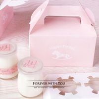 FREE SHIPPING pink horse paper box cupcake boxes and packaging macaron box for wedding cupcake packaging 15*8.4*9cm