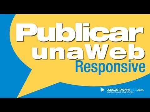 Publicar Web Responsive HTML5 CSS3 - YouTube