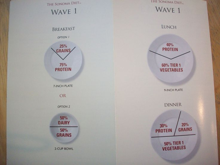 Sonoma Diet Plate Portions (Wave 1)