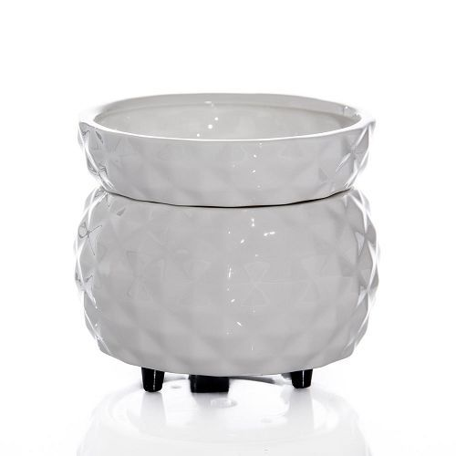White Designed 2 in 1 Ceramic Candle Wax Warmer Tart Burner Electric #Unbranded