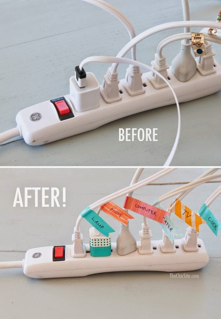 Before and After Cord Organization