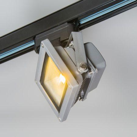 #Schienenstrahler Kick 10W #dunkelgrau #Schienenstrahler mit #Bewegungsmelder für unser 3-Phasen #Schienensystem. Solider Strahler aus dunkelgrau lackiertem #Aluminium mit 120 ° Grad Reflektor.  #Leuchte #lampenundleuchten.at #Innenbeleuchtung
