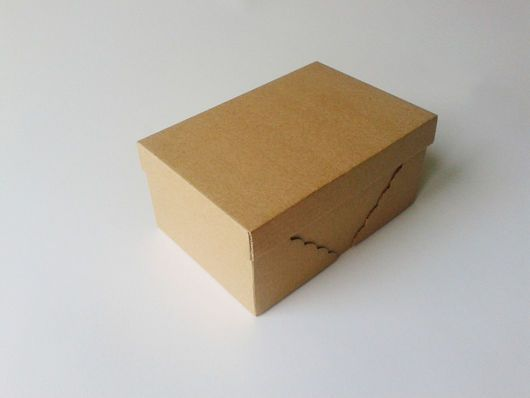 Купить Коробка из микрогофрокартона 10х15х7см. Заготовка - упаковка, коробка, коробочка, коробка для упаковки, картонная коробка