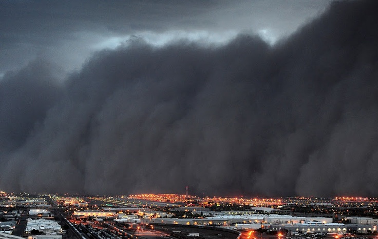 Massive Dust Storm / #storms