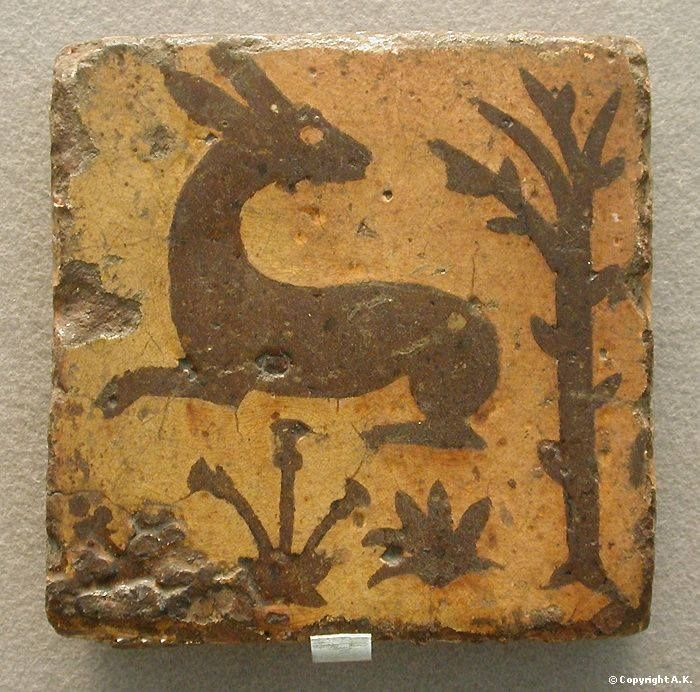 Medieval tile, Neath Abbey, Wales.