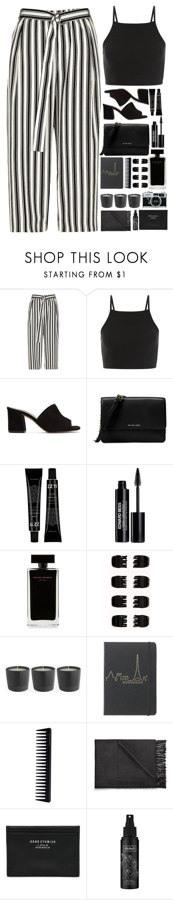 """Maybe I'm just too shy to say it"" by annaclaraalvez ❤ liked on Polyvore featuring River Island, Maryam Nassir Zadeh, Michael Kors, Edward Bess, Narciso Rodriguez, Forever 21, GHD, Acne Studios and Kat Von D"