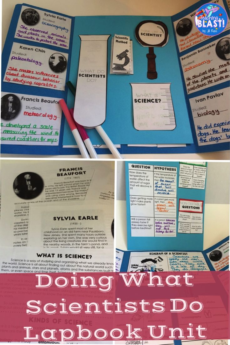 Unit with lapbook or interactive notebook. Includes lesson plans and informational text. Uses biographies of scientists to teach science process skills: observe, infer, classify, measure, communicate, and experiment. Includes powerpoint and teaching notes. Check it out here: https://www.teacherspayteachers.com/Product/Science-Process-Skills-Unit-Hands-on-and-Lapbook-Doing-What-Scientists-Do-1920508