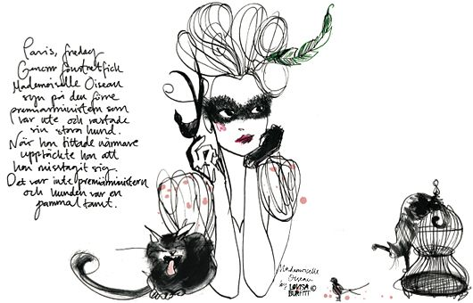 I ♥ the fashion illustrations of Swedish Artist: Lovisa Burfitt.