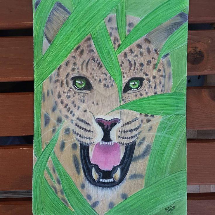 *unbezahlte Werbung durch Markennennung ?{22.04.2019}? . . Meine Zeichnung des Leoparden ist nun fertig!? . . Quelle: Pinterest Material: Pri…