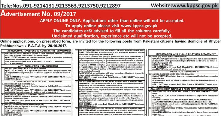 KPPSC Jobs in KPK 2017 Apply Online on KPPSC Jobs 2017 Khyber Pakhtunkhwa Public Service Commission Jobs 2017 Download KPPSC Bank Fee Challan Form Today News Papers Jobs in Pakistan  Newspapers Jobs in Pakistan 2017 Teaching Jobs in Pakistan  Teaching Faculty Jobs  Lecturers Jobs in KPK 2017