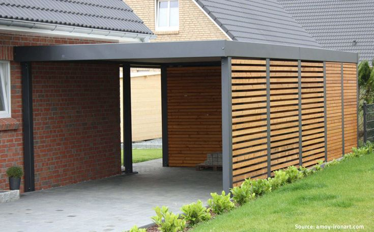 Garage Bois Toit Plat garage Pinterest Construction, Car ports - Camping Le Touquet Avec Piscine Couverte