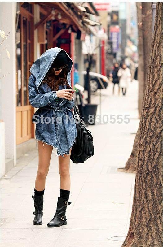 Новый 2014 мода женщины леди плащ с капюшоном верхняя одежда жан прохладный desigual, принадлежащий категории Тренчи и относящийся к Одежда и аксессуары для женщин на сайте AliExpress.com | Alibaba Group