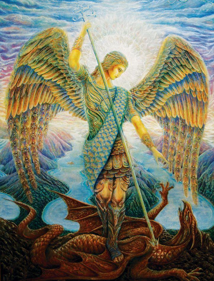 """El Arcángel Miguel cuyo nombre significa""""el que puede situarse frente a Dios""""es el líder de los Arcángeles. Su función es proteger a la humanidad y liderar sus """"legiones …"""