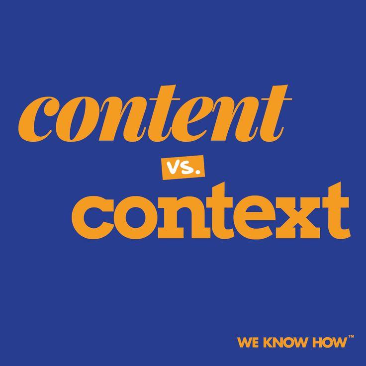 Jaka jest różnica? Content marketing opiera się na regularnym dostarczaniu wartościowych treści odbiorcy. Context marketing polega na dostarczaniu przydatnych treści, ale w odpowiednim czasie.
