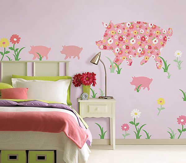 """Renee' wants a """"pig"""" themed nursery. Think she'd love this?"""