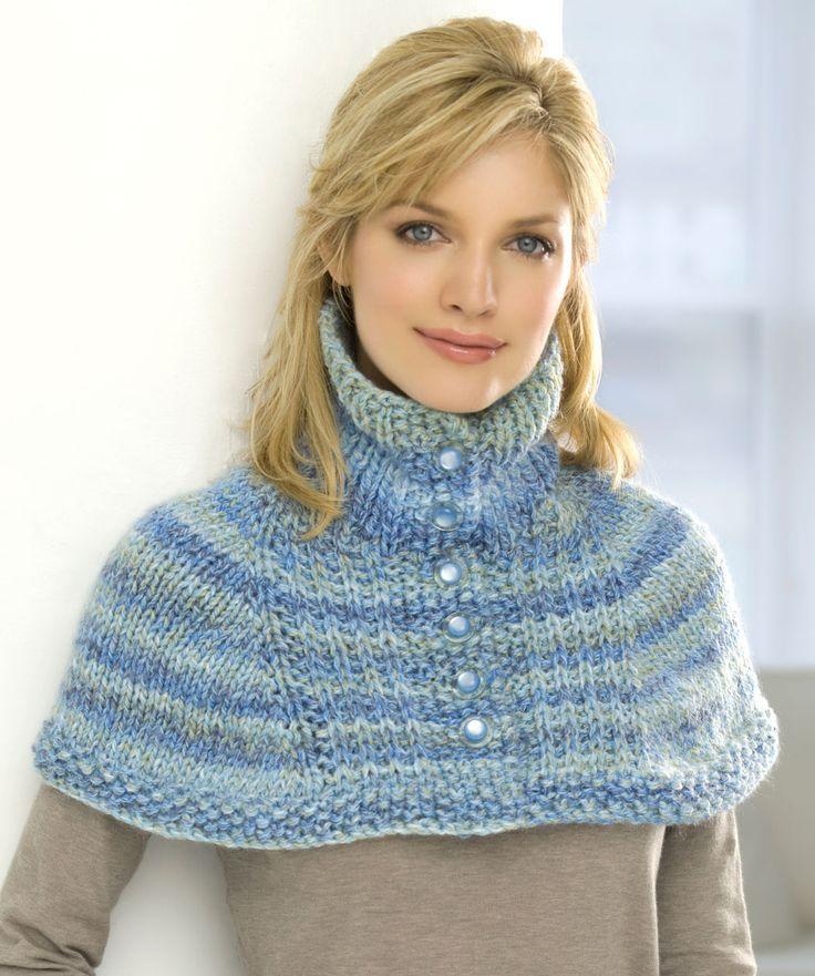 Knitted Neck Warmer Free Pattern : #Free Pattern; knit; neck warmer capelet ~~ Knit - Crochet - Favorite Patte...