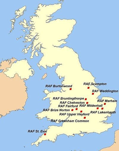 Best US Ar Force Squadrons And Aircraft I Worked On Images On - Air force bases in the us map
