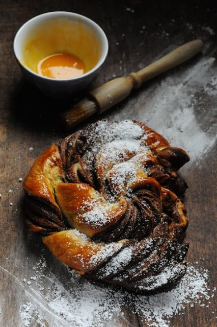 Rolled puff pastry with Nutella...