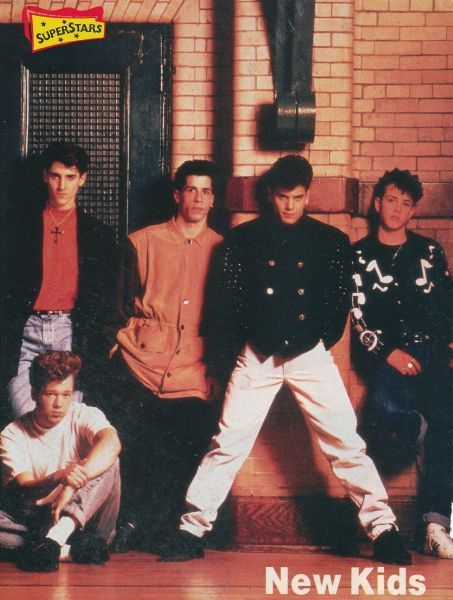New Kids on the Block (also known as KNOTB) consist of Donnie Wahlberg, Jordan Knight, Jonathan Knight, Danny Wood, and Joe Joseph Joey McIntyre.