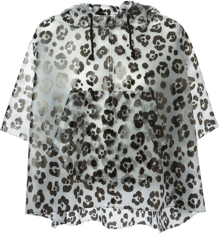Pin for Later: Get Ready For April Showers and Festival Season With the Best Waterproof Jackets Moschino Cheap & Chic Leopard Print Rain Poncho Moschino Cheap & Chic Leopard Print Rain Poncho (£175, originally £437)