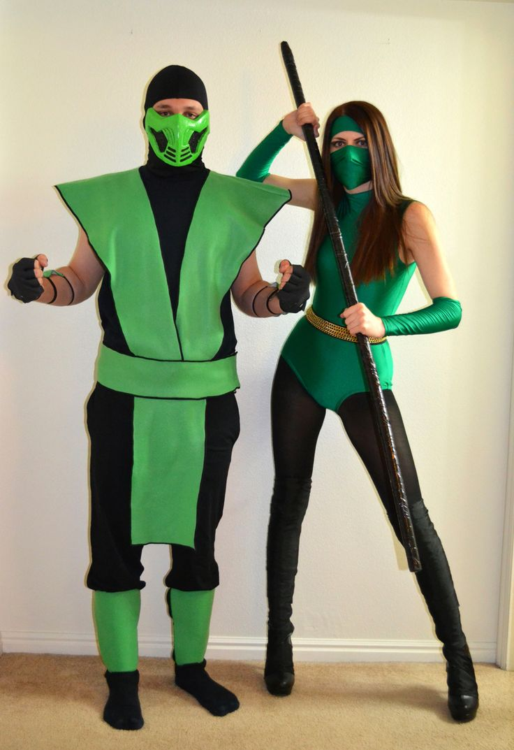 Reptile and Jade from Mortal Kombat