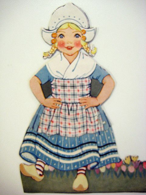 Dutch girl paper doll    From page of 1920's Better Homes and Gardens; by the Haders.
