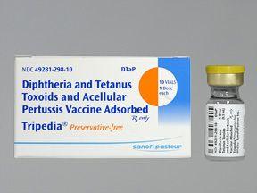 """La notice du vaccin Tripedia (diphtérie-tétanos-coqueluche), fabriqué par Sanofi Pasteur et commercialisé aux Etats-Unis reprend explicitement dans les effets secondaires l'autisme et la mort subite du nourrisson (dont l'acroyme anglais est """"SIDS"""" pour..."""
