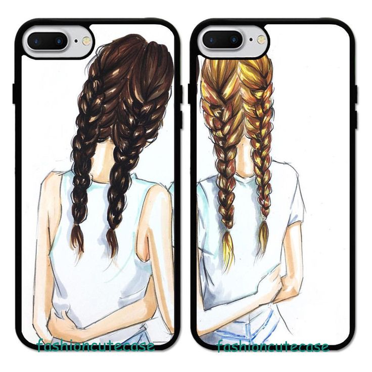 Details about Cute Girl Best Friend Forever Rubber Case Cover For iPhone 8 XS&Samsung Galaxy