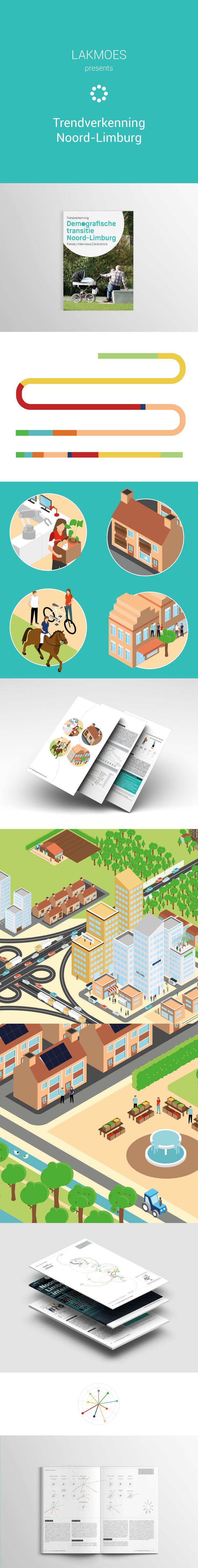Verkenning van de demografische transities in Noord-Limburg #studiolakmoes #infographic #design #datavisualisation #graphicdesign #data #infodesign