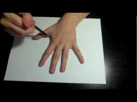 Draw a 3d Hand - Optical Illusion