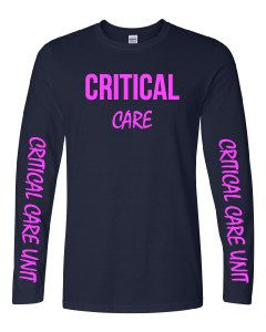 Critical Care Nurse Long Sleeve Women's Navy shirt by ArnoldPrints