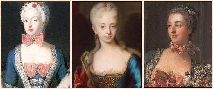 До самой смерти Людовика XIV  костюм, как мужской так и женский, практически не изменялся. Только детали: отделки, вышивки, узоры кружев и цвет выбирали по своему вкусу. За год до смерти Короля - Солнца, в 1714г., на придворный бал в Версале попала герцогиня Шрусбери. Людовик, главный законодатель европейских мод, положительно оценил её маленькую, скромную причёску и умерено пышные юбки, и сразу в моду вошла простая, слегка припудренная причёска, украшенная букетиками или кружевной…