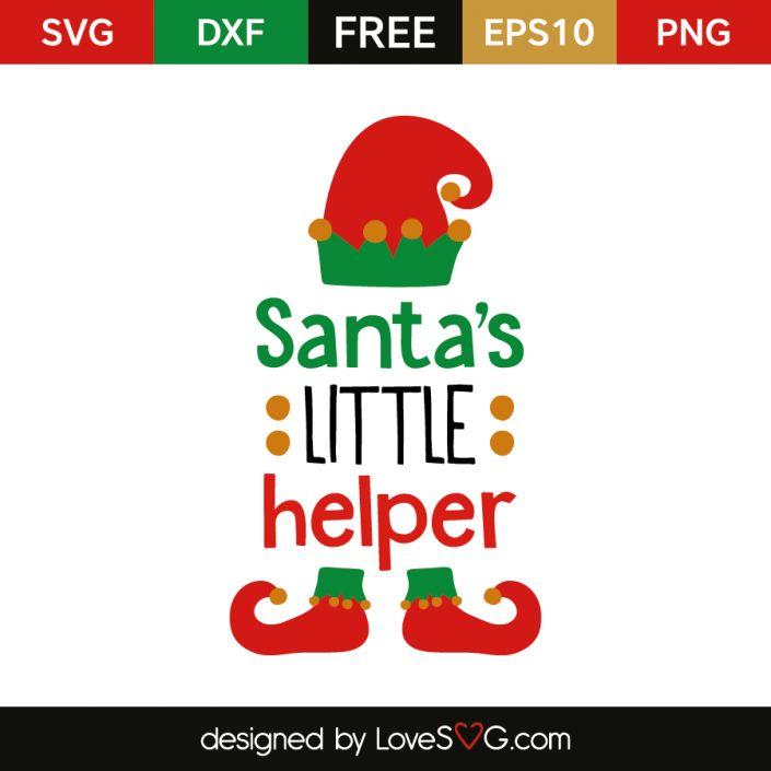 *** FREE SVG CUT FILE for Cricut, Silhouette and more *** Santas little helper