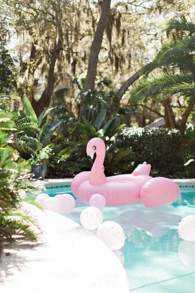 Flamingo raft: http://www.stylemepretty.com/living/2015/03/09/flamingo-first-birthday-bash/ | Photography: Brooke Images - http://www.brookeimages.com/