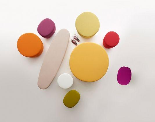 Cup Pouf collection - design by Raffaella Mangiarotti #geometric #homeoffice #color #focusoncolor