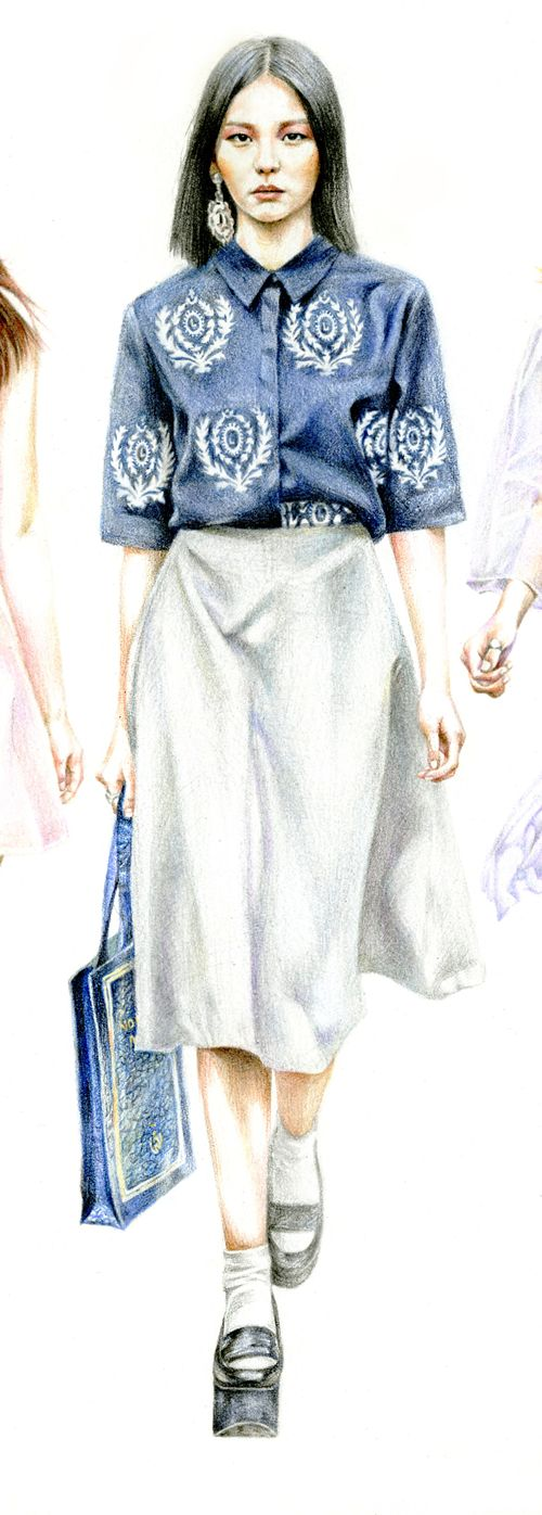 Low classic 2014 s/s - KoreaFashion IllustrationPencil, Colored pencil