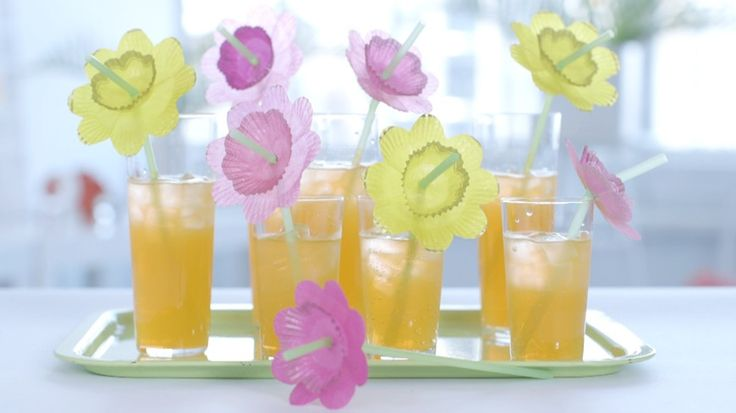 Here are 3 ideas for adding a little pizazz to your summer cocktail straws.