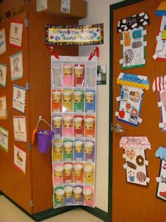 """This teacher made a cup """"bucket"""" for each student.  When a child does something nice for someone, they get to fill their bucket with a cotton ball.  (Could also use pom poms)  This is a visual way for children to see how much of a bucket-filler they are."""