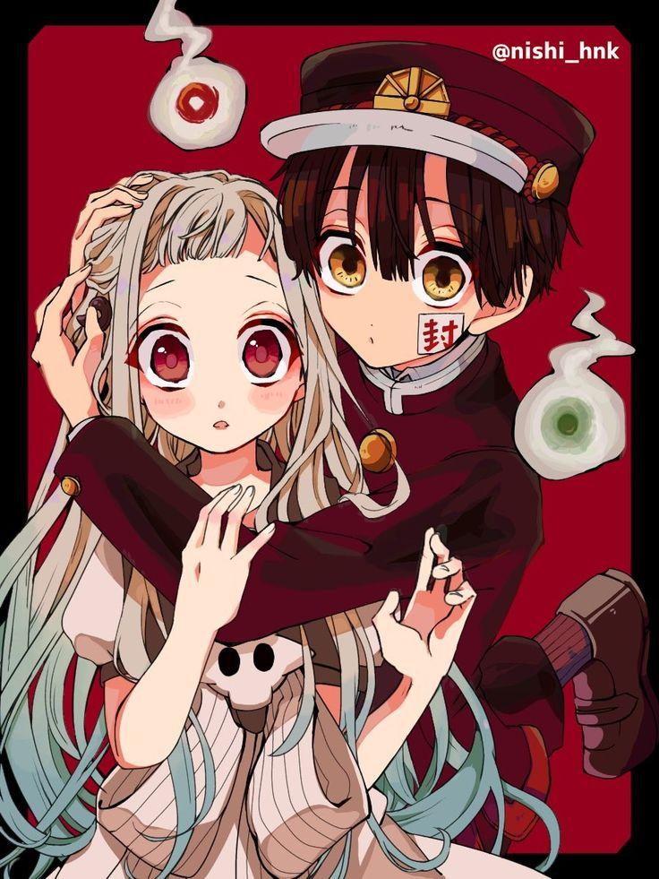 The same ghost glued to her hip wrapped around her torso in every moment. Hanako x Yashiro   Anime shows, Hanako, Anime