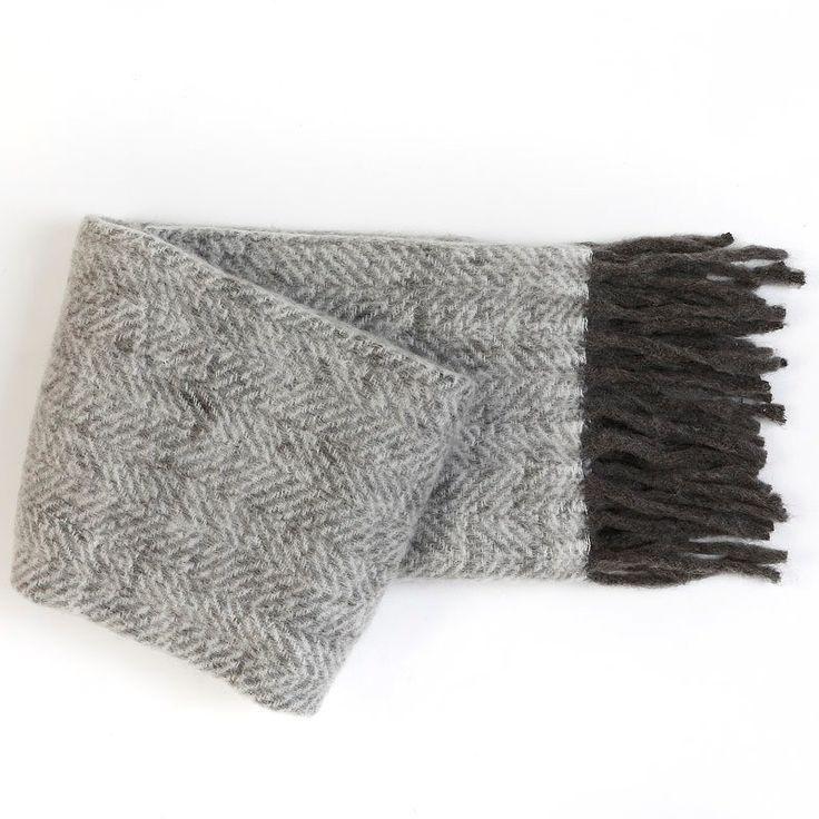 Wool Blended Grey Throw