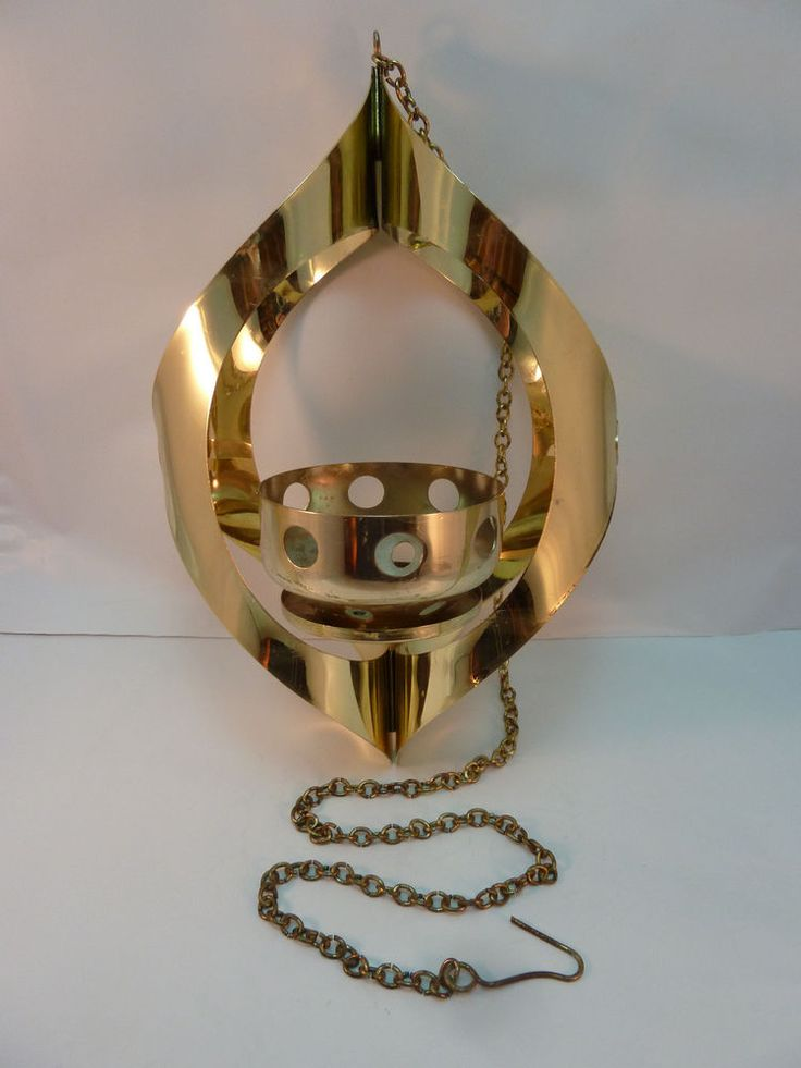 Vintage Mid Century Candle Holder Mascot Usa Hanging Brass