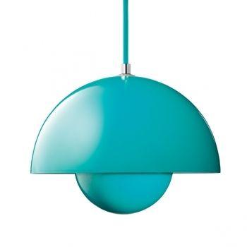 Flower Pot VP1 pendant, turquoise