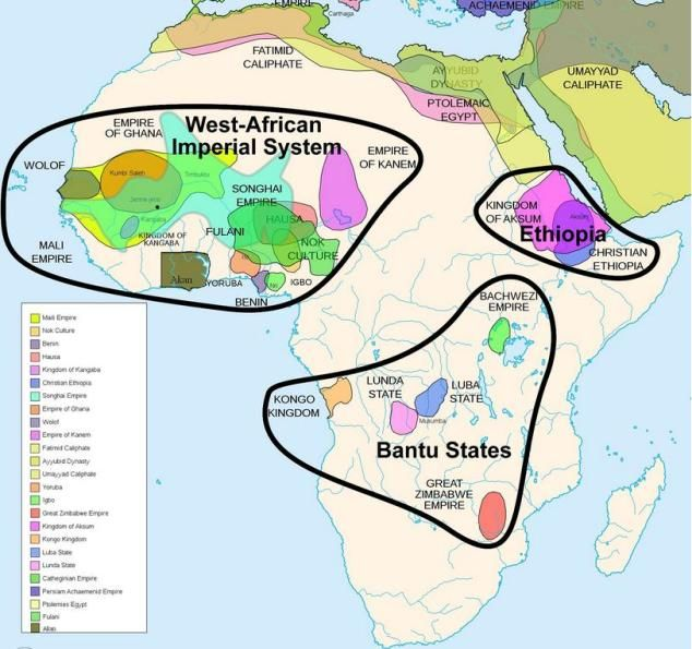 map of africa before it was colonised by europeans