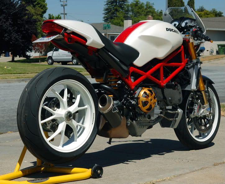 ducati monster s4rs custom | 2007 Ducati Monster S4RS White/Red - 4,700 miles - SF Bay Area - Many ...