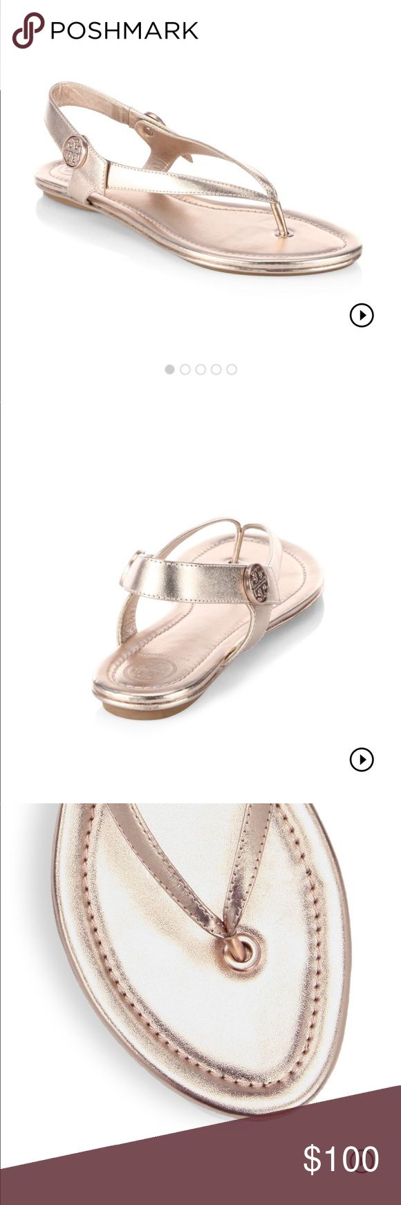 New Tory burch Minnie Travel Sandal rose gold Sold out online... beautiful beautiful sandal. Perfect for spring and summer time!  ordered online but not the right size for me 😩  If I don't sell them in the next 2 days, I will send them back to the store, but just want to try to sell them first to a lucky girl. still in original box, packaged and ready to go (includes the box, dust bag, etc) Tory Burch Shoes Sandals