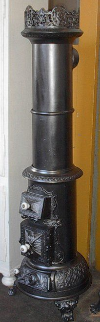 1890s Crown woodstove, this kind of stove is very common in old homes in Europe.