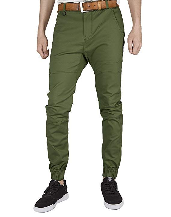 9f06bed22 ITALY MORN Men's Chino Jogger Pants Slim Fit Elastic Cuff | for men ...