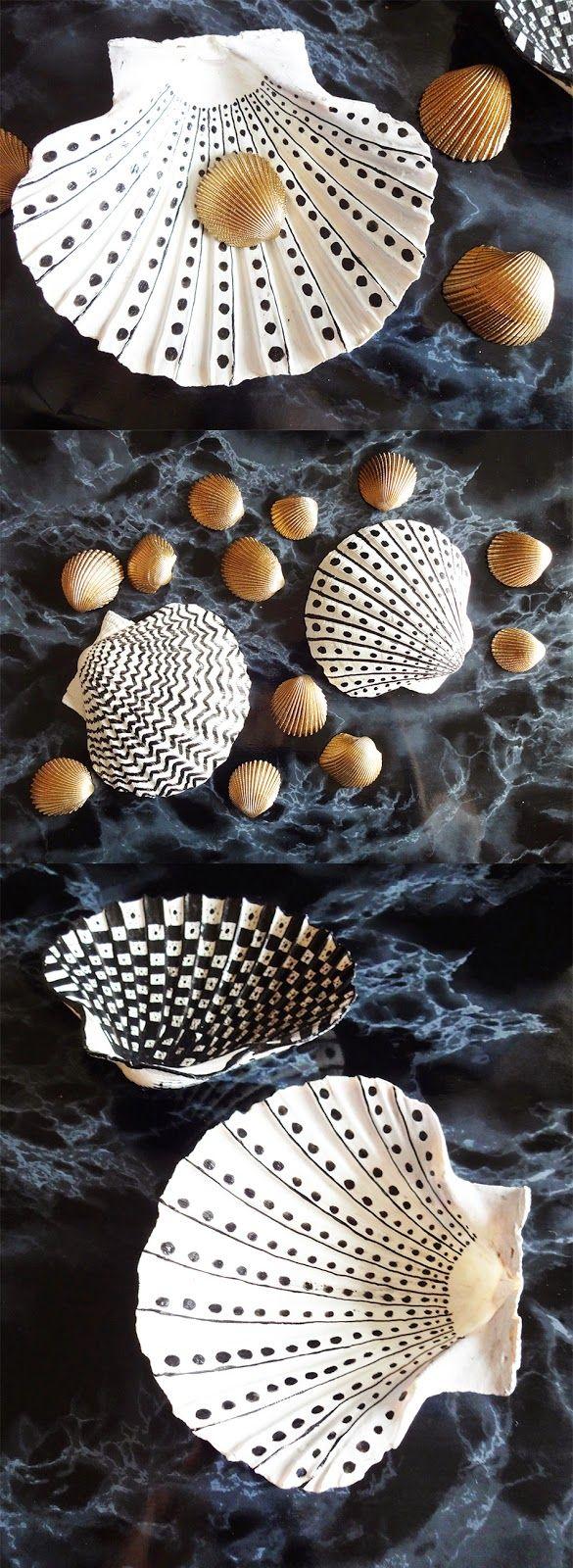basteln malen kuchen backen: Seifenschalen aus Muscheln