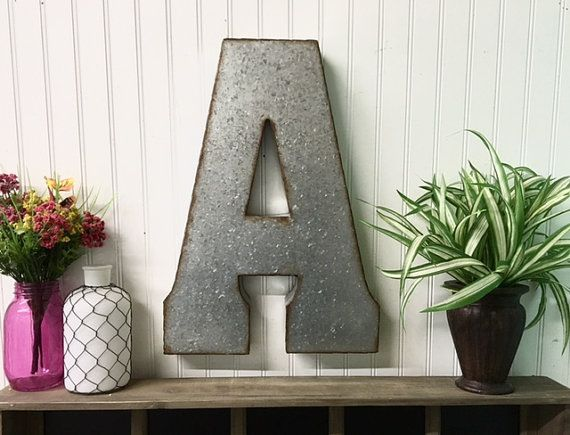 Large Metal Letters For Wall 19 best large galvanized letters images on pinterest | metal