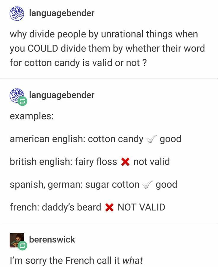 1 British People Say Candy Floss 2 French Peop Australian British Candy Floss French Peop People Tumblr Funny Funny Tumblr Posts Funny Quotes